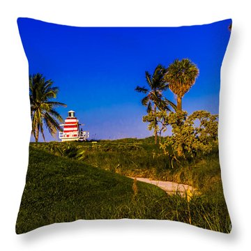 Pathway To The Beach Throw Pillow by Rene Triay Photography