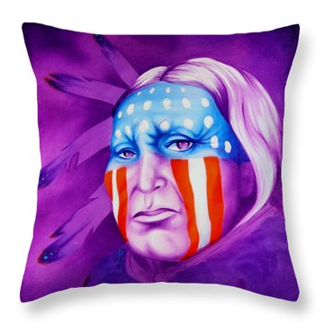 Patriot Throw Pillow by Robert Martinez