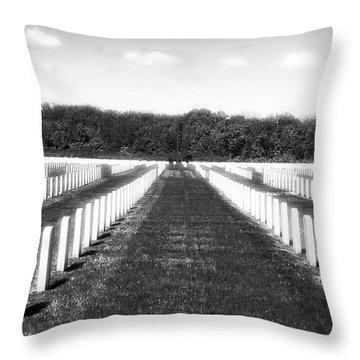 Patriots Throw Pillow by John Rizzuto