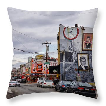 Pat's And Geno's 2 Throw Pillow by Jack Paolini