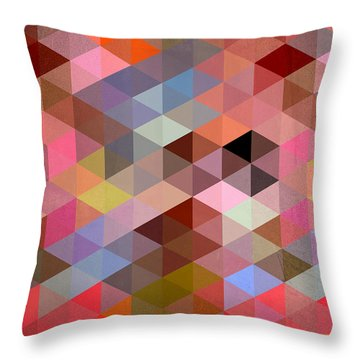 Pattern Of Triangle Throw Pillow by Mark Ashkenazi
