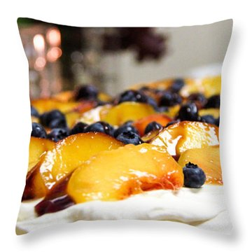 Pavlova And Candle Throw Pillow by Nancy Harrison