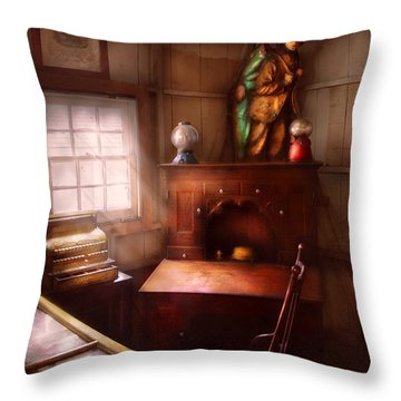 Pawn - In The Pawn Shop Throw Pillow by Mike Savad