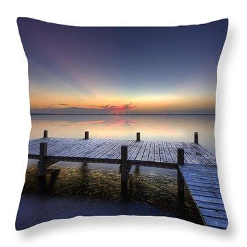 Peace Throw Pillow by Debra and Dave Vanderlaan