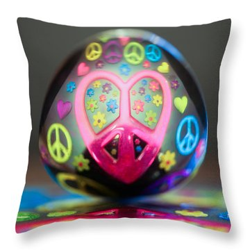 Peace Love Spoon Throw Pillow by Aaron Aldrich