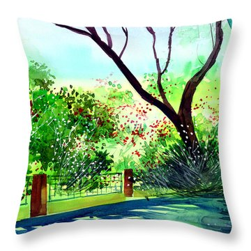 Peace Of Mind 1 Throw Pillow by Anil Nene