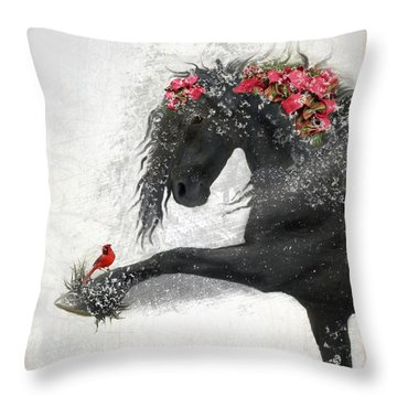 Peace On Earth Throw Pillow by Fran J Scott