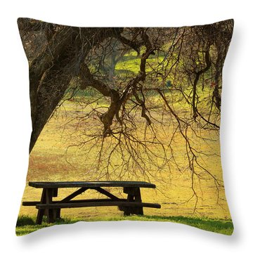 Peace  Throw Pillow by Rima Biswas