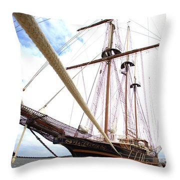 Peacemaker Throw Pillow by Gordon Elwell