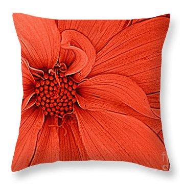 Peach Blossom Throw Pillow by Dora Sofia Caputo Photographic Art and Design