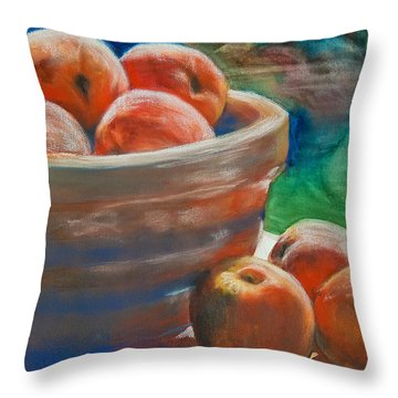 Peach Fuzz Throw Pillow by Jani Freimann