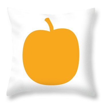 Peach Throw Pillow by Jackie Farnsworth