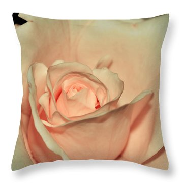 Peaches And Cream Throw Pillow by Kaye Menner