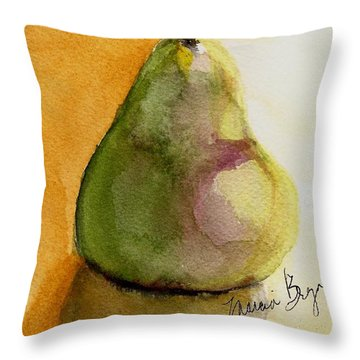 Pear Throw Pillow by Marcia Breznay