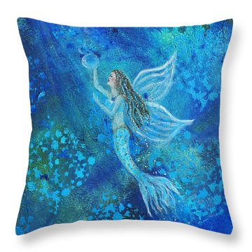 Pearl Out Of The Depths Throw Pillow by The Art With A Heart By Charlotte Phillips