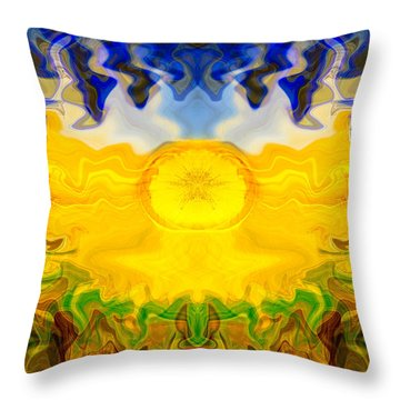 Pearlescent  Throw Pillow by Omaste Witkowski