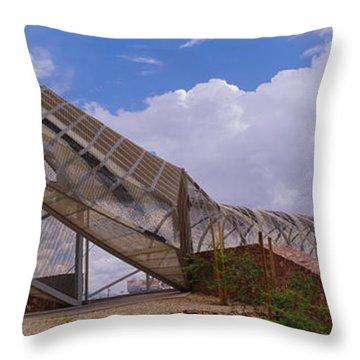 Pedestrian Bridge Over A River, Snake Throw Pillow by Panoramic Images