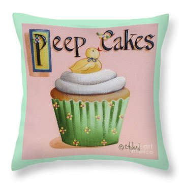 Artist Who Throws Cake : Peep Cakes Painting by Catherine Holman