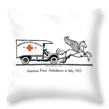 Pegasus At Work For The Allies Throw Pillow by War Is Hell Store