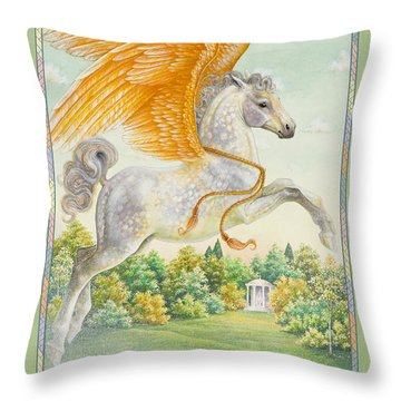 Pegasus Throw Pillow by Lynn Bywaters