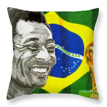 Pele Throw Pillow by Cory Still