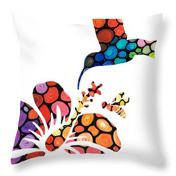 Perfect Harmony - Nature's Sharing Art Throw Pillow by Sharon Cummings