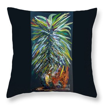 Perfect Pineapple Throw Pillow by Eloise Schneider