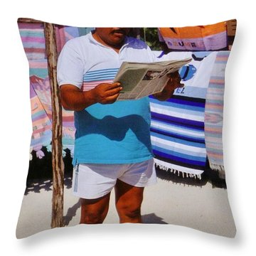 Perfect Posture Portrait Throw Pillow by John Malone