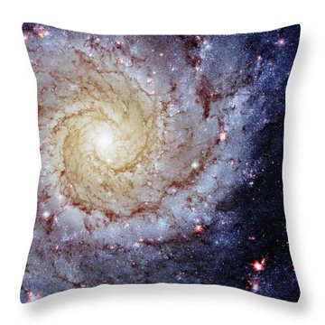 Perfect Spiral Throw Pillow by Benjamin Yeager