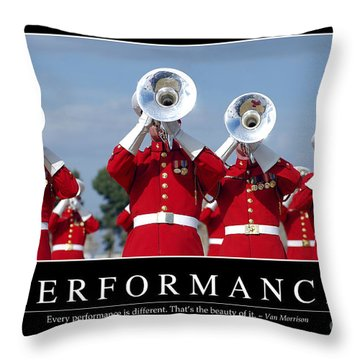 Performance Inspirational Quote Throw Pillow by Stocktrek Images