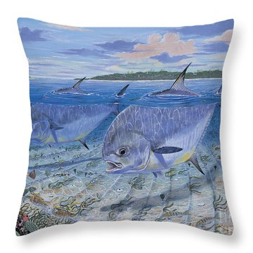 Permit In0016 Throw Pillow by Carey Chen