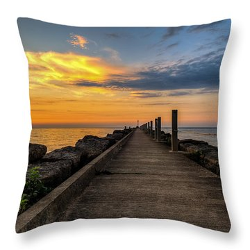 Perspective Light Throw Pillow by Mark Papke