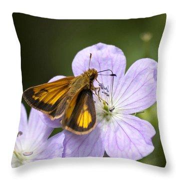 Petal To Petal Throw Pillow by Christina Rollo