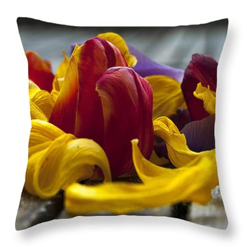 Petals Throw Pillow by Svetlana Sewell