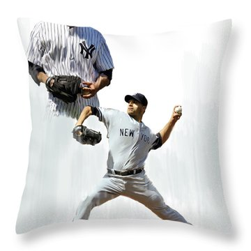 Pettitte  Andy Pettitte Throw Pillow by Iconic Images Art Gallery David Pucciarelli