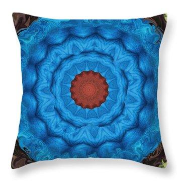 Petunias Inside Out Throw Pillow by Aliceann Carlton