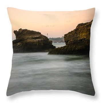 Throw Pillow featuring the photograph Phare De Biarritz by Thierry Bouriat