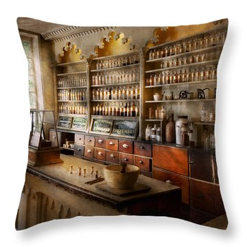 Pharmacist - The Dispensatory Throw Pillow by Mike Savad