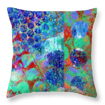 Phase Series - Movement Throw Pillow by Moon Stumpp