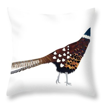 Pheasant Throw Pillow by Isobel Barber