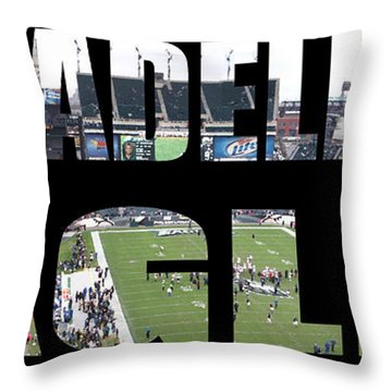 Philadelpha Eagles Throw Pillow by Tom Gari Gallery-Three-Photography