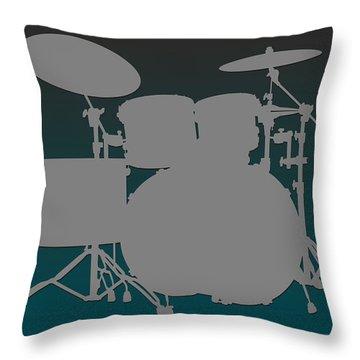 Philadelphia Eagles Drum Set Throw Pillow by Joe Hamilton