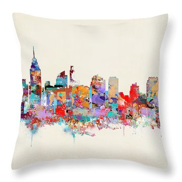 Philadelphia Skyline Throw Pillow by Bri B