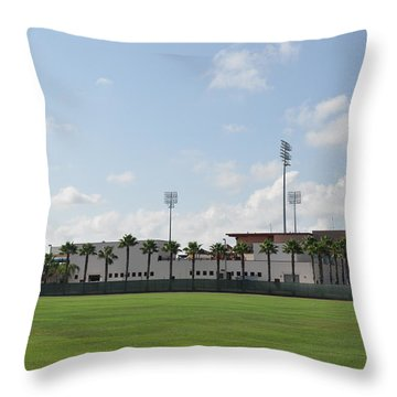 Phillies Brighthouse Stadium Clearwater Florida Throw Pillow by Bill Cannon