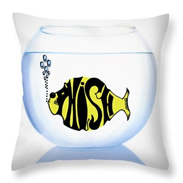 Phish Bowl Throw Pillow by Bill Cannon