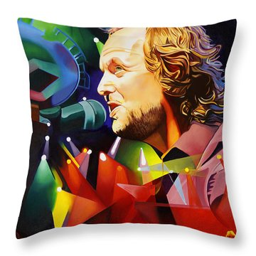 Phish Full Band Mcconnell Throw Pillow by Joshua Morton