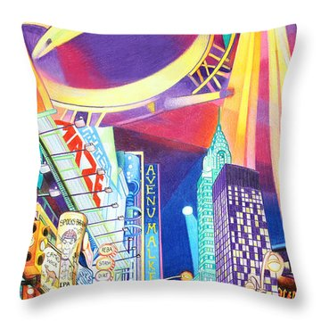 Phish New Years In New York Left Panel Throw Pillow by Joshua Morton