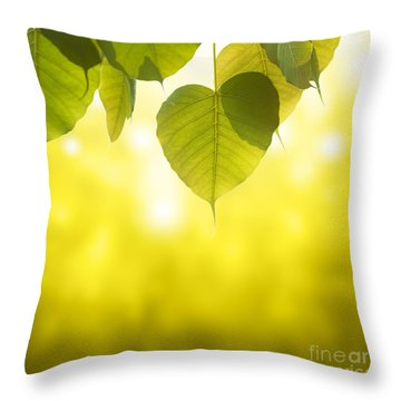 Pho Or Bodhi Throw Pillow by Atiketta Sangasaeng