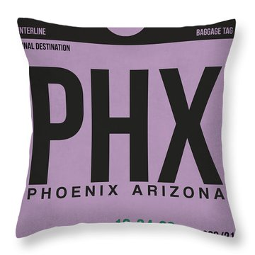 Phoenix Airport Poster 1 Throw Pillow by Naxart Studio