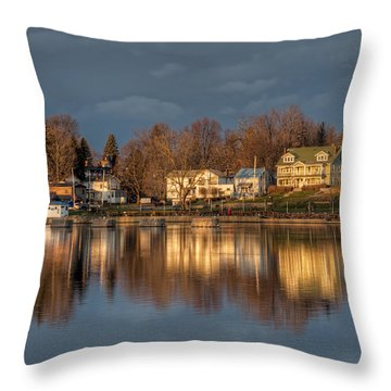 Reflection Of A Village - Phoenix Ny Throw Pillow by Everet Regal